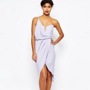 ASOS Lilac Asymmetrical Dress